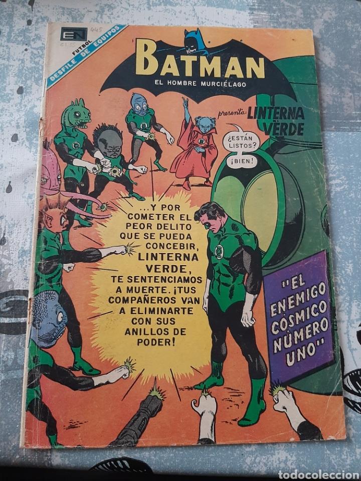BATMAN N° 445, NOVARO 1968, LINTERNA VERDE (Tebeos y Comics - Novaro - Batman)