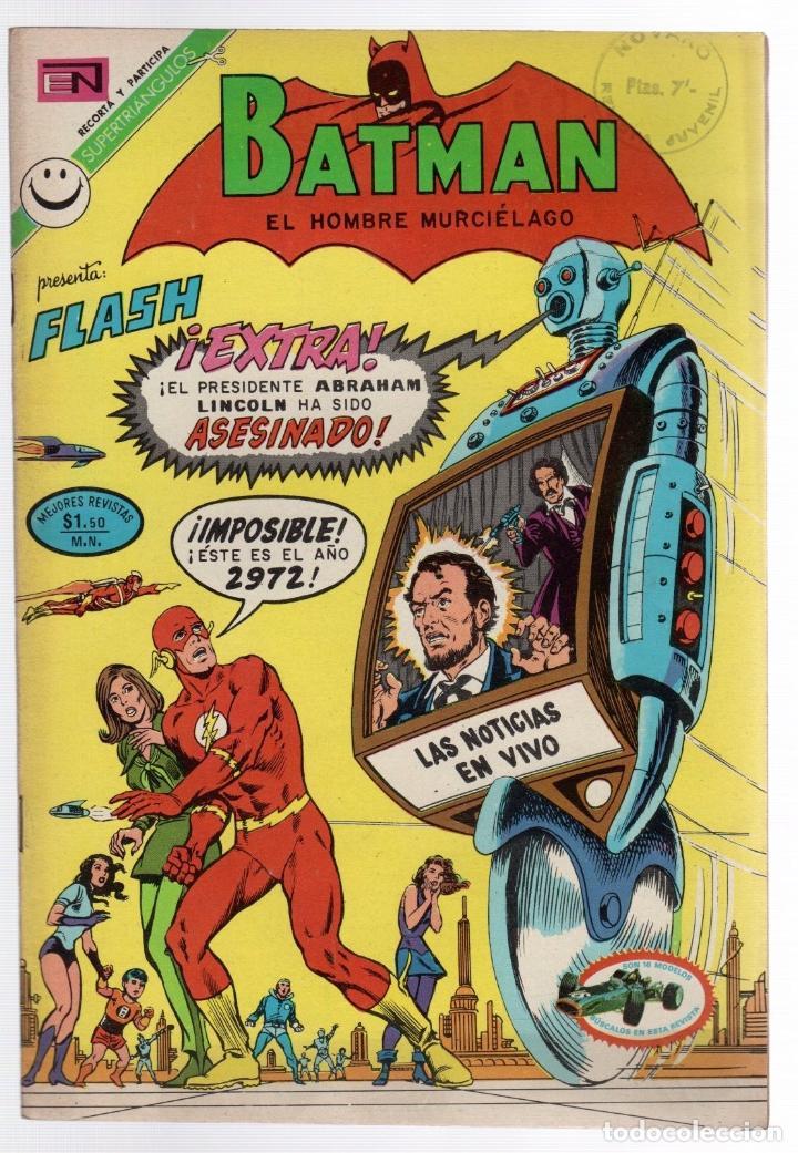BATMAN. EXTRA. EL PRESIDENTE ABRAHAM LINCOLN HA SIDO ASESINADO. Nº 644. NOVARO, 24 AGOSTO 1972 (Tebeos y Comics - Novaro - Batman)