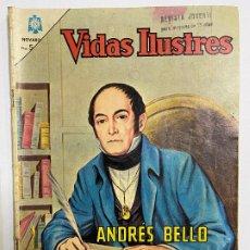 Tebeos: REVISTA INFANTIL. VIDAS ILUSTRES. ANDRÉS BELLO. EDITORIAL NOVARO. AÑO X. Nº118. 1965.. Lote 257510705