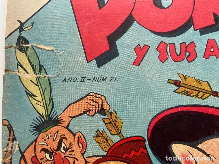 Tebeos: Porky y Sus Amigos nº 21 Año II Primerísima Numeración SEA Novaro sello Negro 1953 - Foto 2 - 257935655