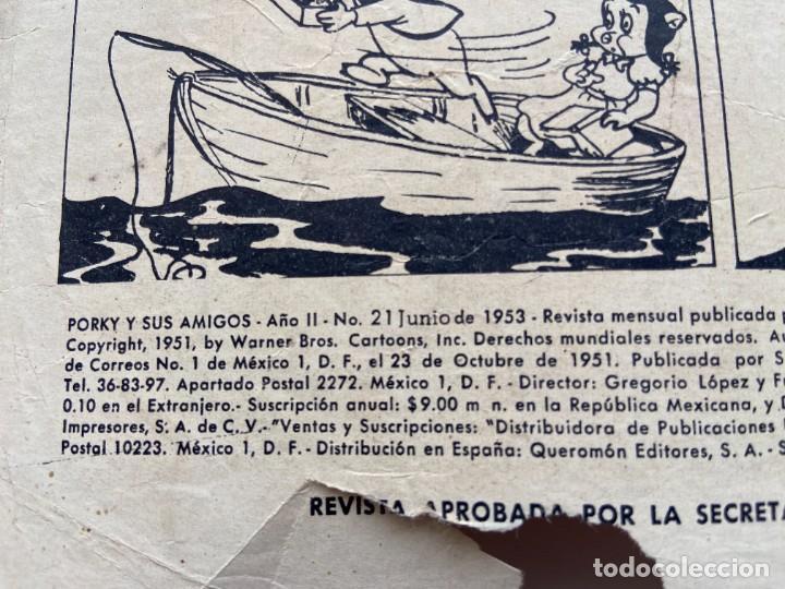 Tebeos: Porky y Sus Amigos nº 21 Año II Primerísima Numeración SEA Novaro sello Negro 1953 - Foto 5 - 257935655