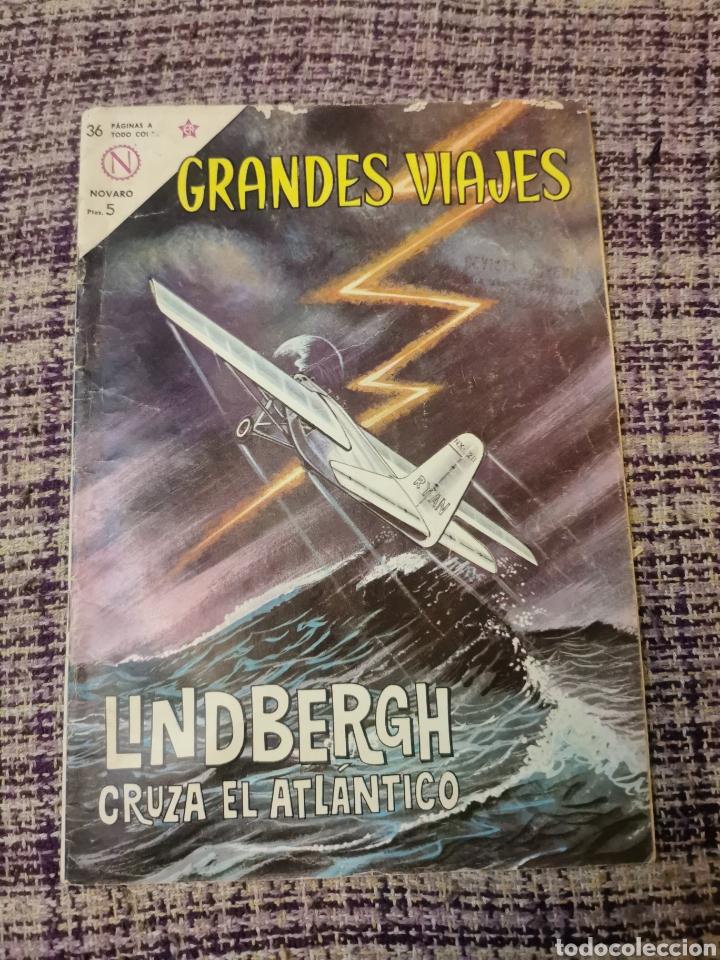 CÓMIC GRANDES VIAJES LINDBERGH CRUZA EL ATLÁNTICO (Tebeos y Comics - Novaro - Grandes Viajes)
