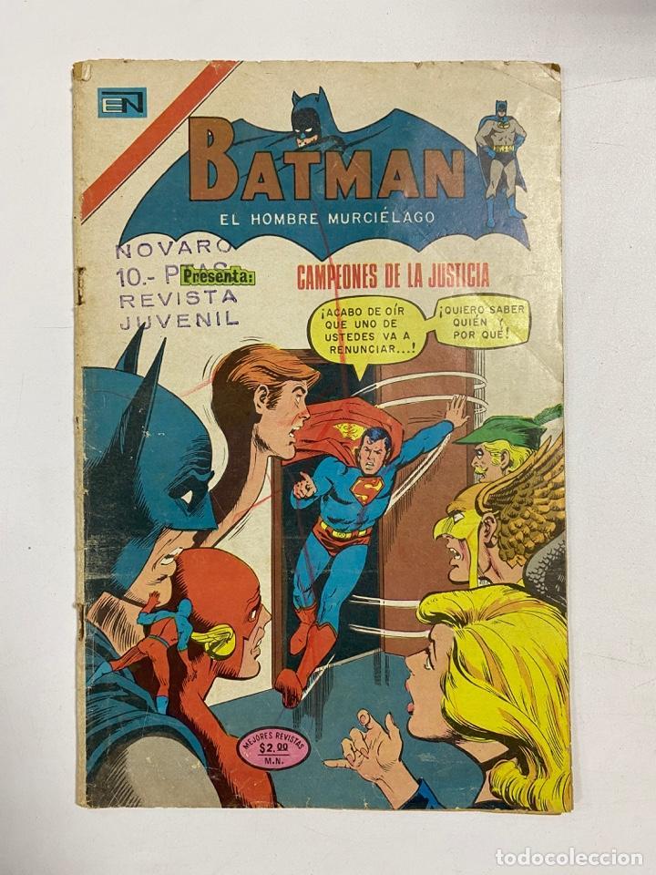 BATMAN. AÑO XXII. Nº 755. CAMPEONES DE LA JUSTICIA. EDITORIAL NOVARO. 1974 (Tebeos y Comics - Novaro - Batman)