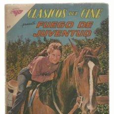 Tebeos: CLÁSICOS DEL CINE 68: FUEGO DE JUVENTUD, 1962, NOVARO. COLECCIÓN A.T.. Lote 262714035