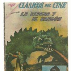 Tebeos: CLÁSICOS DEL CINE 66: LA ESPADA Y EL DRAGÓN, 1962, NOVARO RETAPADO. COLECCIÓN A.T.. Lote 262717165