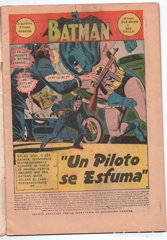 Tebeos: 1970 BATMAN # 526 NOVARO FRANK ROBBINS BOB BROWN JOE GIELLA ROSS ANDRU MIKE ESPOSITO MUY BUEN ESTADO - Foto 2 - 262901890