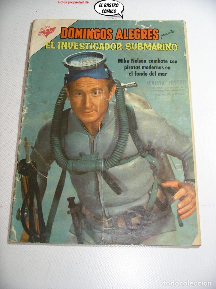 DOMINGOS ALEGRES Nº 351, EL INVESTIGADOR SUBMARINO, ED. NOVARO AÑO 1960, ER, 6F (Tebeos y Comics - Novaro - Domingos Alegres)