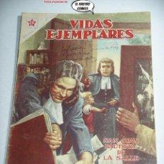 Tebeos: VIDAS EJEMPLARES Nº 133, SAN JUAN BAUTISTA DE LA SALLE, ED. NOVARO AÑO 1962, ER, 6F. Lote 263069305