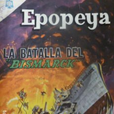 Tebeos: COMIC EPOPEYA Nº 89 LA BATALLA DEL BISMARCK NOVARO. Lote 263237930