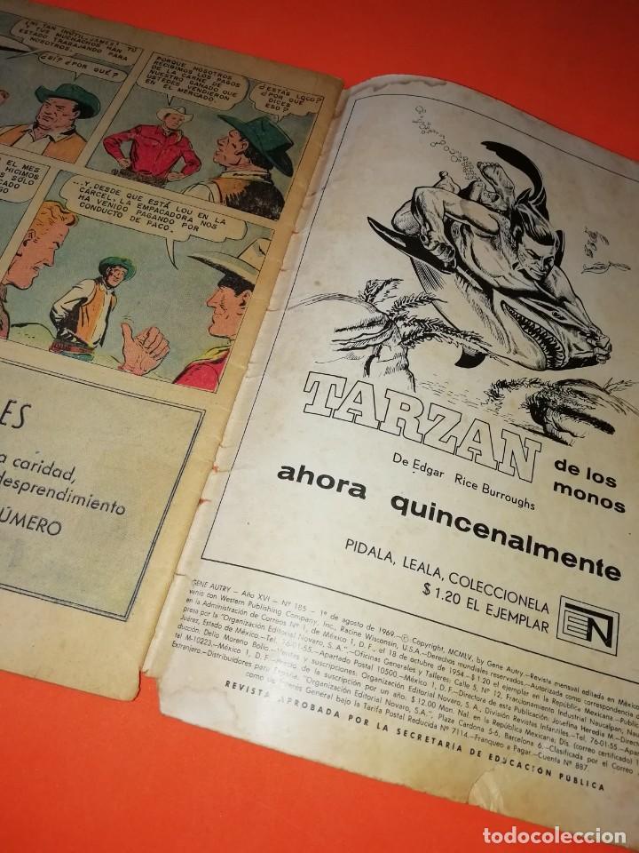 Tebeos: GENE AUTRY. NOVARO . Nº 185. 1969. DESGASTE DEL PASO DEL TIEMPO - Foto 5 - 264307624