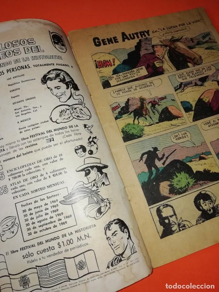 Tebeos: GENE AUTRY. NOVARO . Nº 185. 1969. DESGASTE DEL PASO DEL TIEMPO - Foto 2 - 264307624