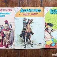 Livros de Banda Desenhada: 3 EJEMPLARES DE NOVARO : CLASICOS, AVENTURA Y RED RIDER. 1962- 64 Y 65 . VELL I BELL.. VELL I BELL. Lote 266084748