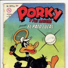 Tebeos: PORKY Y SUS AMIGOS PRESENTA: EL PATO LUCAS Nº 147 - NOVARO 1963. Lote 267584849