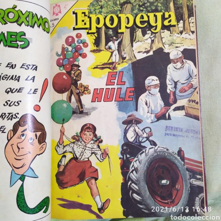 Tebeos: tomo encuadernado con 12 ejemplares epopeya novaro numeros variados - Foto 2 - 268955654