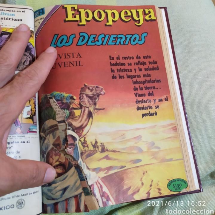 Tebeos: tomo encuadernado con 12 ejemplares epopeya novaro numeros variados - Foto 10 - 268955654