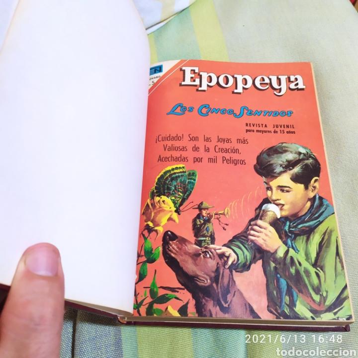 TOMO ENCUADERNADO CON 12 EJEMPLARES EPOPEYA NOVARO NUMEROS VARIADOS (Tebeos y Comics - Novaro - Otros)
