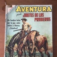 Tebeos: AVENTURA Nº 606. NOVARO - 1969. JINETES DE LAS PRADERAS. Lote 271980823