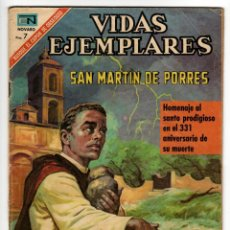 Livros de Banda Desenhada: VIDAS EJEMPLARES Nº 327 (NOVARO 1970) SAN MARTIN DE PORRES.. Lote 273952213