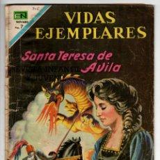 Livros de Banda Desenhada: VIDAS EJEMPLARES Nº 306 (NOVARO 1969) SANTA TERESA DE AVILA.. Lote 273986698