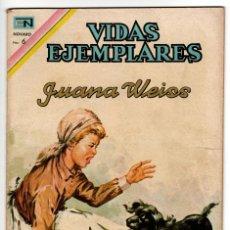 Livros de Banda Desenhada: VIDAS EJEMPLARES Nº 256 (NOVARO 1967) JUANA WEISS.. Lote 273990828