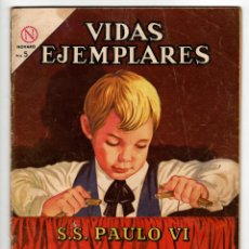 Livros de Banda Desenhada: VIDAS EJEMPLARES Nº 170 (NOVARO 1964) PAULO VI.. Lote 273993873