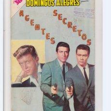 Tebeos: DOMINGOS ALEGRES NUMERO 384 AGENTES SECRETOS DE LA EDITORIAL NOVARO. Lote 275584988