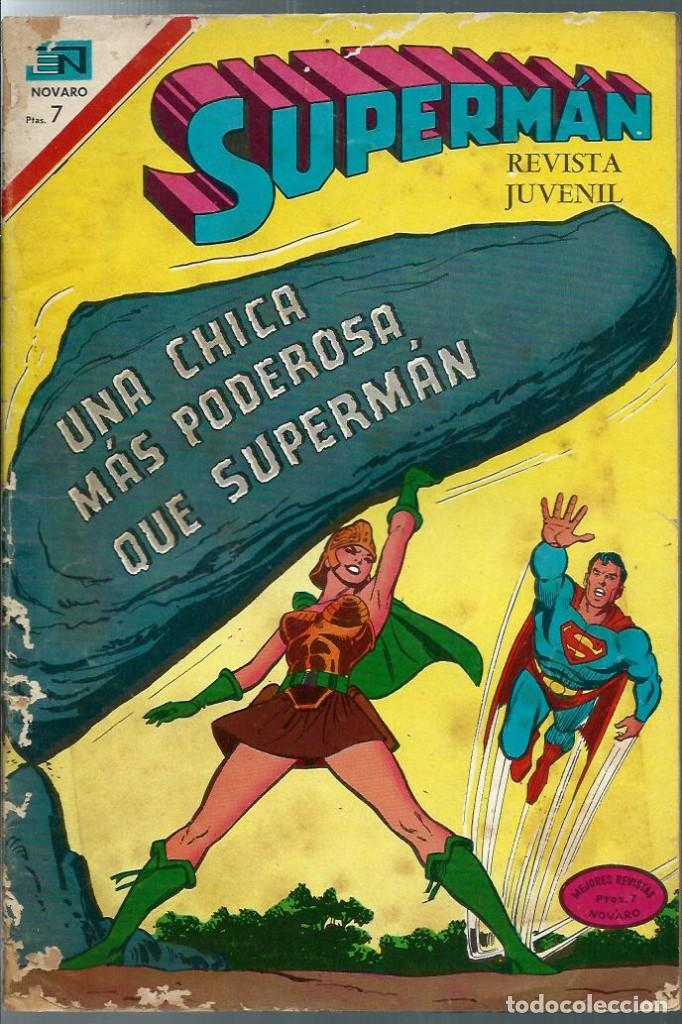 SUPERMAN Nº 850 - UNA CHICA MAS PODEROSA QUE SUPERMAN - NOVARO MARZO 1972 (Tebeos y Comics - Novaro - Superman)