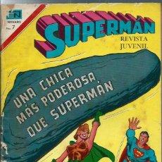 Tebeos: SUPERMAN Nº 850 - UNA CHICA MAS PODEROSA QUE SUPERMAN - NOVARO MARZO 1972. Lote 275791748