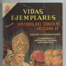 Tebeos: VIDAS EJEMPLARES : EXTRAORDINARIO Nº 9 : HISTORIA DEL CONCILIO VATICANO II. ED. NOVARO, ABRIL 1966. Lote 275948298