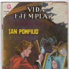 Tebeos: VIDAS EJEMPLARES: SAN POMPILIO - AÑO XIII - Nº 227 - AGOSTO 15 DE 1966 **NOVARO**. Lote 276466658