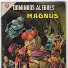 Tebeos: DOMINGOS ALEGRES: MAGNUS - AÑO XI - Nº 564 - ENERO 17 DE 1965 ** EDITORIAL NOVARO **. Lote 276467828