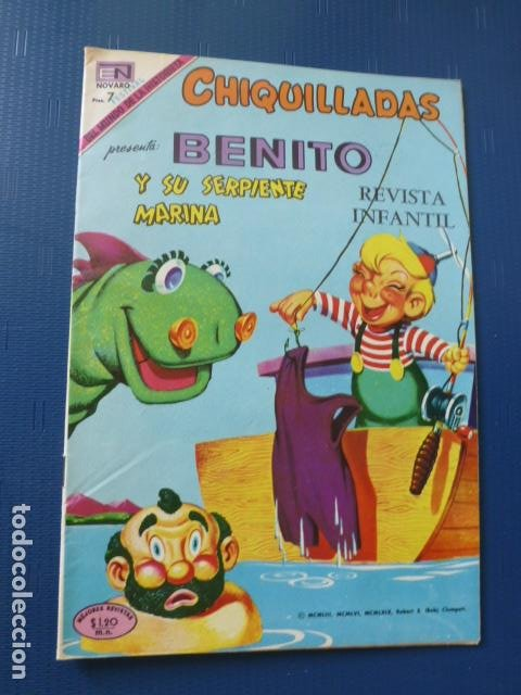 COMIC CHIQUILLADAS Nº 262 1969 DE NOVARO (Tebeos y Comics - Novaro - Otros)
