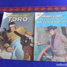 Tebeos: DOMINGOS ALEGRES Nº 294 TORO Y 434 RELATOS DE LA WELLS FARGO. NOVARO SEA 1959. RAROS.. Lote 277754168