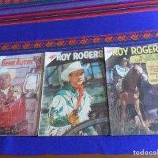 Tebeos: ROY ROGERS NºS 64 Y 87. NOVARO SEA 1957. REGALO GENE AUTRY Nº 88. NOVARO SEA 1961.. Lote 277755188