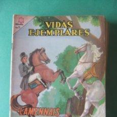 Tebeos: VIDAS EJEMPLARES Nº 205 LAMENNAIS EL CORSARIO DE DIOSEDITORIAL NOVARO. Lote 278702583