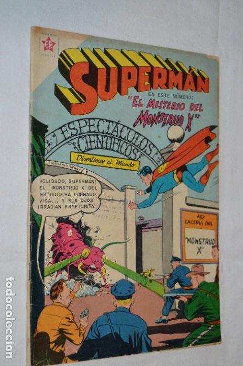EL MISTERIO DEL MONSTRUO X / NÚMERO 191 / SUPERMAN / DE NOVARO -AÑOS 50/60 - ¡MIRA FOTOS Y DETALLES! (Tebeos y Comics - Novaro - Superman)