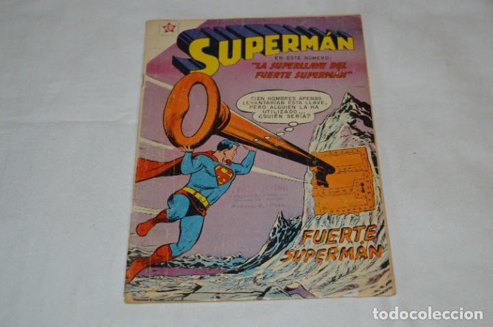 LA SUPERLLAVE DEL FUERTE SUPERMAN / NÚM 206 / SUPERMAN / NOVARO -AÑOS 50/60 - ¡MIRA FOTOS/DETALLES! (Tebeos y Comics - Novaro - Superman)