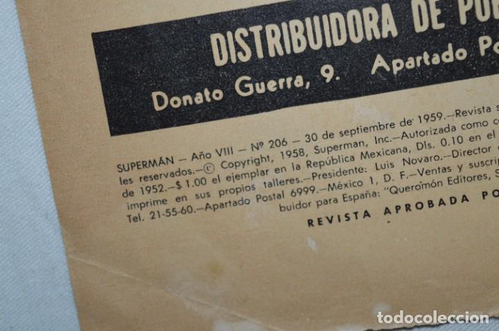 Tebeos: LA SUPERLLAVE DEL FUERTE SUPERMAN / Núm 206 / SUPERMAN / NOVARO -Años 50/60 - ¡Mira fotos/detalles! - Foto 4 - 278933733