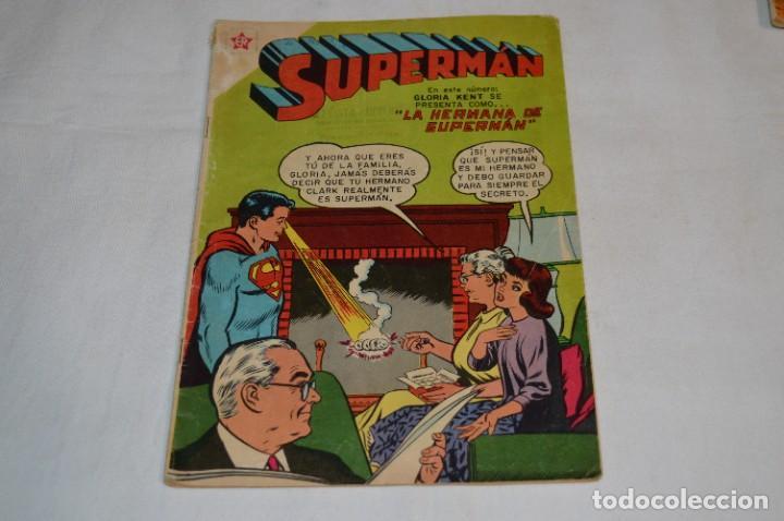 """""""LA HERMANA DE SUPERMAN"""" / NÚMERO 168 / SUPERMAN / NOVARO -AÑOS 50/60 - ¡MIRA FOTOS/DETALLES! (Tebeos y Comics - Novaro - Superman)"""