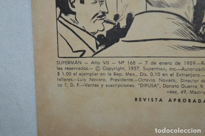 """Tebeos: """"LA HERMANA DE SUPERMAN"""" / Número 168 / SUPERMAN / NOVARO -Años 50/60 - ¡Mira fotos/detalles! - Foto 3 - 278970743"""