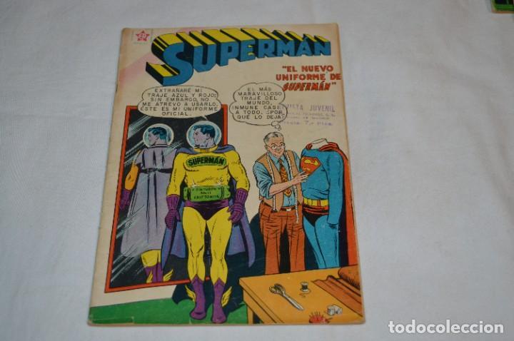 """""""EL NUEVO UNIFORME DE SUPERMAN"""" / NÚMERO 184 / SUPERMAN / NOVARO -AÑOS 50/60 - ¡MIRA FOTOS/DETALLES! (Tebeos y Comics - Novaro - Superman)"""
