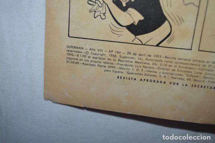 """Tebeos: """"EL NUEVO UNIFORME DE SUPERMAN"""" / Número 184 / SUPERMAN / NOVARO -Años 50/60 - ¡Mira fotos/detalles! - Foto 3 - 278972763"""