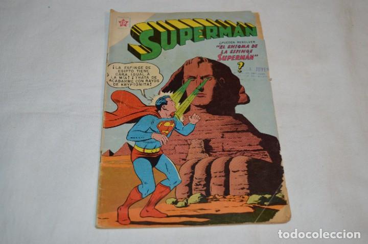 """""""EL ENIGMA DE LA ESFINGE SUPERMAN"""" / NÚM 205 / SUPERMAN / NOVARO -AÑOS 50/60 - ¡MIRA FOTOS/DETALLES! (Tebeos y Comics - Novaro - Superman)"""