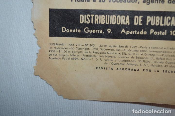 """Tebeos: """"EL ENIGMA DE LA ESFINGE SUPERMAN"""" / Núm 205 / SUPERMAN / NOVARO -Años 50/60 - ¡Mira fotos/detalles! - Foto 2 - 278975673"""