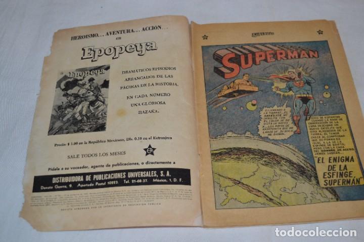 """Tebeos: """"EL ENIGMA DE LA ESFINGE SUPERMAN"""" / Núm 205 / SUPERMAN / NOVARO -Años 50/60 - ¡Mira fotos/detalles! - Foto 4 - 278975673"""