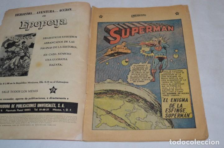 """Tebeos: """"EL ENIGMA DE LA ESFINGE SUPERMAN"""" / Núm 205 / SUPERMAN / NOVARO -Años 50/60 - ¡Mira fotos/detalles! - Foto 5 - 278975673"""