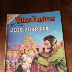 Tebeos: VIDAS ILUSTRES DE NOVARO Nº 128 JOSÉ ZORRILLA. 1965. Lote 280728628