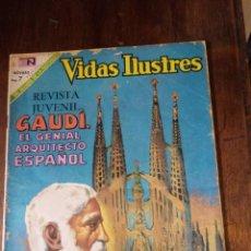 Tebeos: VIDAS ILUSTRES 209 GAUDI EL GENIAL ARQUITECTO ESPAÑOL. EDITORIAL NOVARO 1969. Lote 280729053