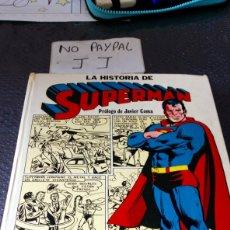 Tebeos: LA HISTORIA DE SUPERMAN PRÓLOGO JAVIER COMA A TODO COLOR MUY USADO NECESITA PQÑA REPARACIÓN 1979. Lote 280775288