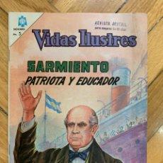 Tebeos: VIDAS ILUSTRES Nº 122: SARMIENTO, PATRIOTA Y EDUCADOR - EXCELENTE ESTADO. Lote 285139733